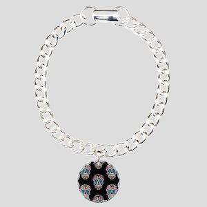 sequin Sugar Skulls Charm Bracelet, One Charm