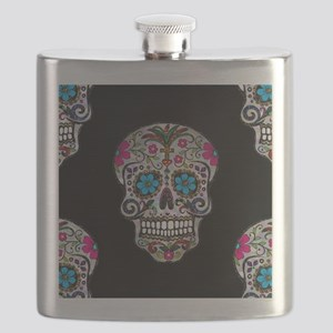sequin Sugar Skulls Flask