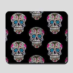 sequin Sugar Skulls Mousepad