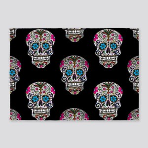 sequin Sugar Skulls 5'x7'Area Rug