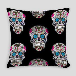 sequin Sugar Skulls Everyday Pillow