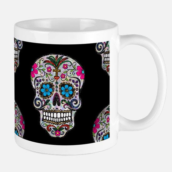 sequin Sugar Skulls Mugs