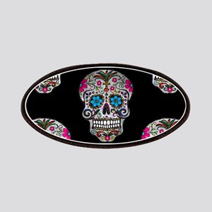 sequin Sugar Skulls Patch