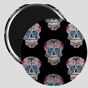 sequin Sugar Skulls Magnets