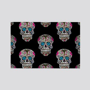 sequin Sugar Skulls Magnets