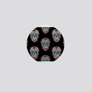 sequin Sugar Skulls Mini Button