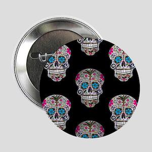 "sequin Sugar Skulls 2.25"" Button"