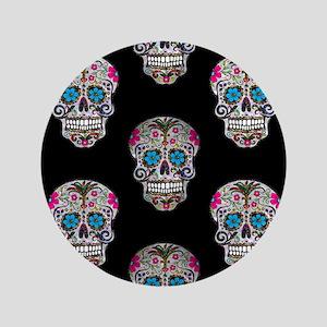 sequin Sugar Skulls Button