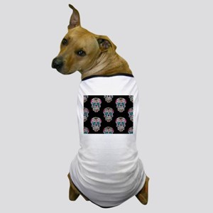 sequin Sugar Skulls Dog T-Shirt