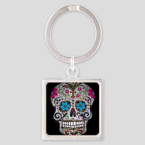sequin Sugar Skulls Keychains