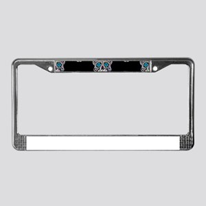 sequin Sugar Skulls License Plate Frame