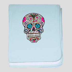 glitter Sugar Skull baby blanket
