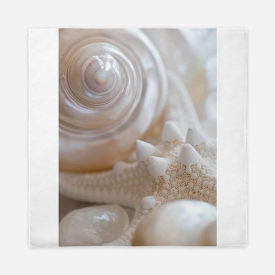 Pearl Spiral Seashell Sea Shells Queen Duvet