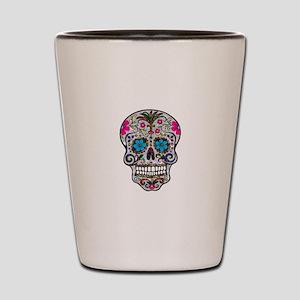 glitter Sugar Skull Shot Glass