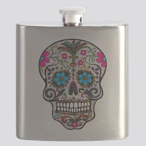glitter Sugar Skull Flask