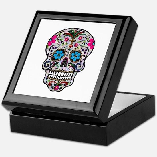 glitter Sugar Skull Keepsake Box