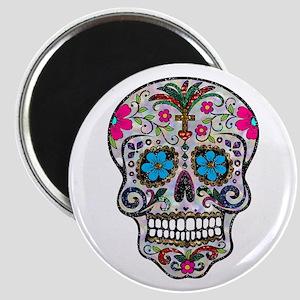 glitter Sugar Skull Magnets