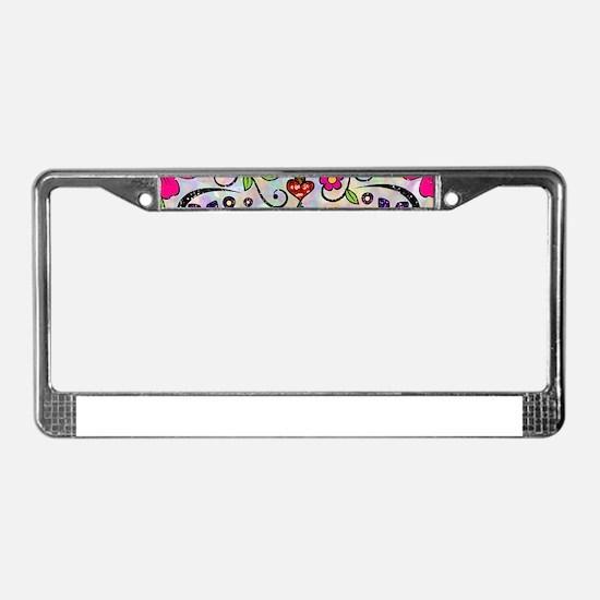 glitter Sugar Skull License Plate Frame
