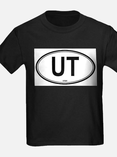 Utah (UT) euro Ash Grey T-Shirt