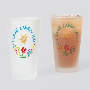 I Love LH Drinking Glass