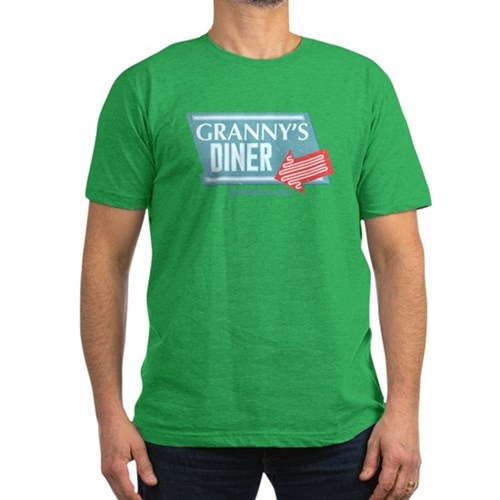 Granny's Diner Men's Dark Fitted T-Shirt