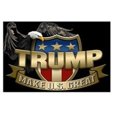 Trump Election Shield Large Poster