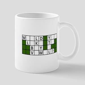 buy_a_vowel_dark Mugs