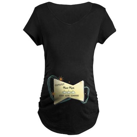 Instant Music Major Maternity Dark T-Shirt