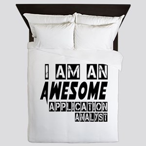 I Am Application analyst Queen Duvet