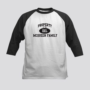 Property of Mcqueen Family Kids Baseball Jersey