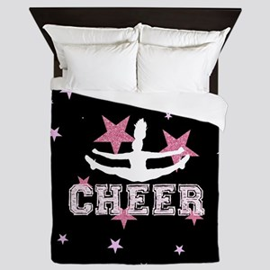 Pink and Black Cheerleader Queen Duvet