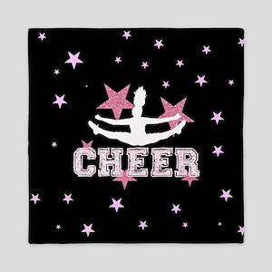 Pink and Black Cheerleader Queen Duvet