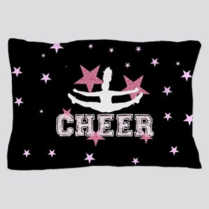Pink and Black Cheerleader Pillow Case