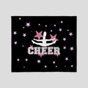 Pink and Black Cheerleader Throw Blanket