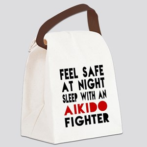 Feel Safe With Aikido Fighter Canvas Lunch Bag