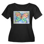 Butterfly Nymph Women's Plus Size Scoop Neck Dark