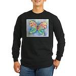 Butterfly Nymph Long Sleeve Dark T-Shirt