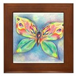 Butterfly Nymph Framed Tile