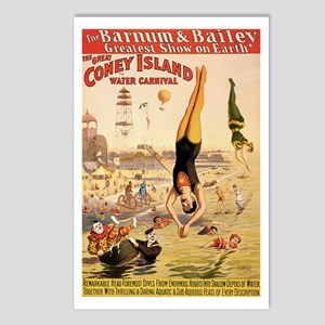 Coney Island Water Carnival Postcards (Package of