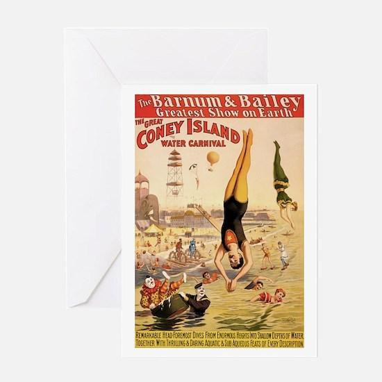 Coney Island Water Carnival Greeting Card