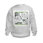 Three Linear Roses Kids Sweatshirt