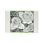 Three Linear Roses Rectangle Magnet (10 pack)