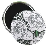 Three Linear Roses Magnet
