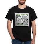 Three Linear Roses Dark T-Shirt