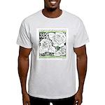 Three Linear Roses Light T-Shirt