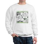 Three Linear Roses Sweatshirt