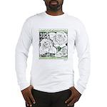 Three Linear Roses Long Sleeve T-Shirt