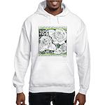 Three Linear Roses Hooded Sweatshirt