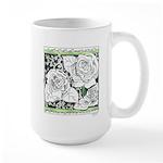 Three Linear Roses Large Mug