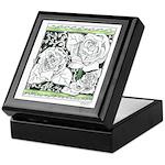 Three Linear Roses Keepsake Box